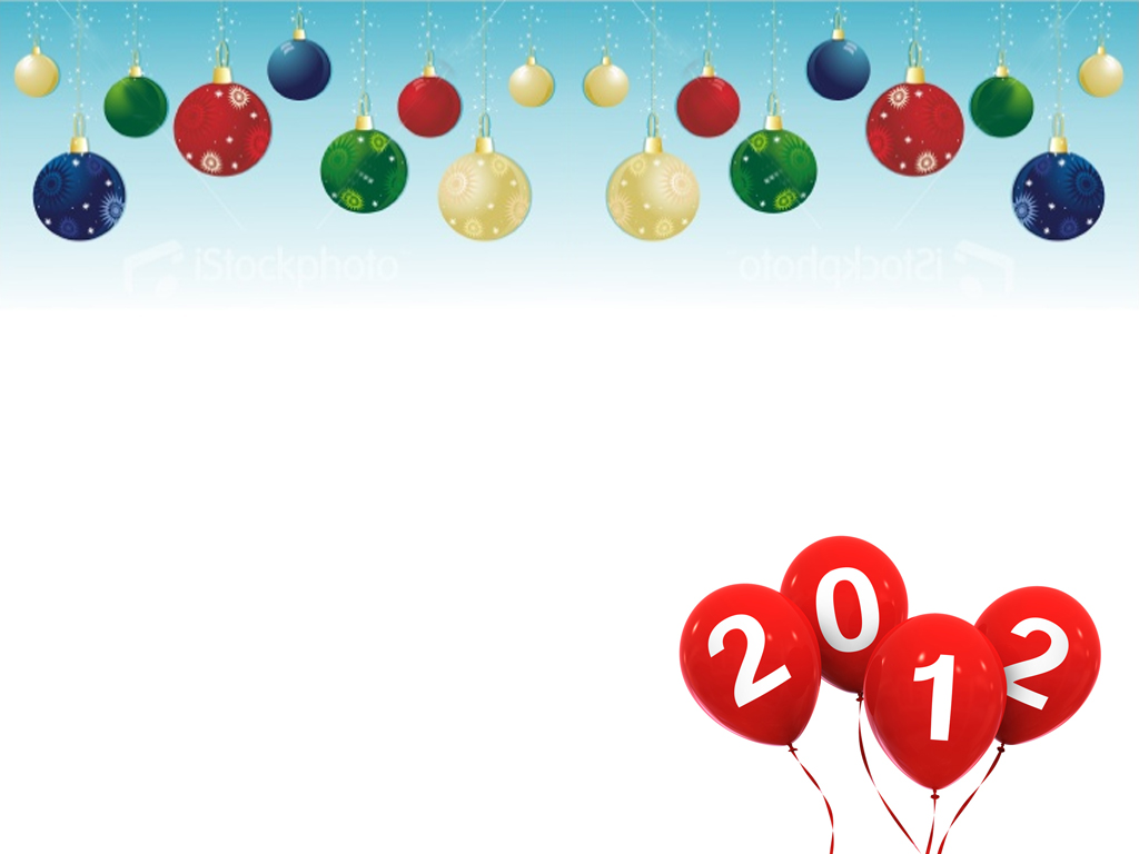 2012 Happy New Year PPT Backgrounds