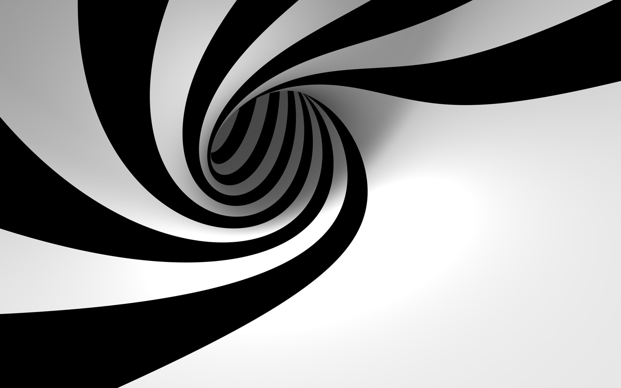 3D Black and White Abstract