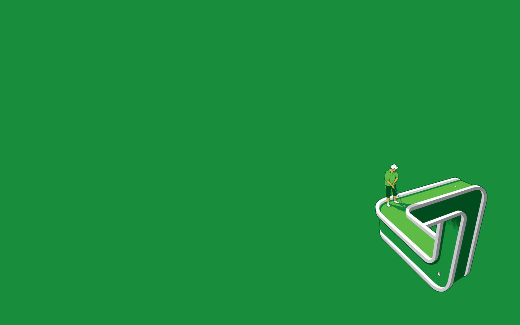 3D Golf PPT Backgrounds