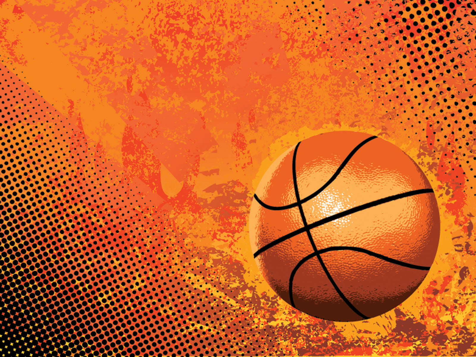 Basketball Sports PPT Backgrounds