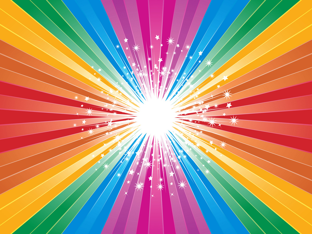 Brightly coloured red star burst PPT Backgrounds