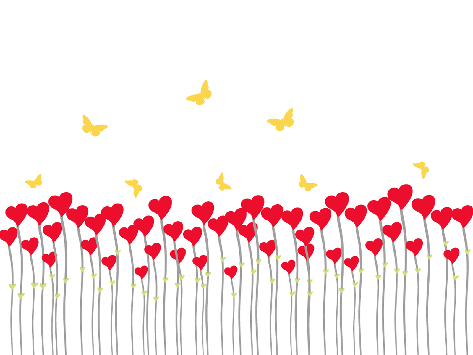 Butterflies heart shaped pattern PPT Backgrounds