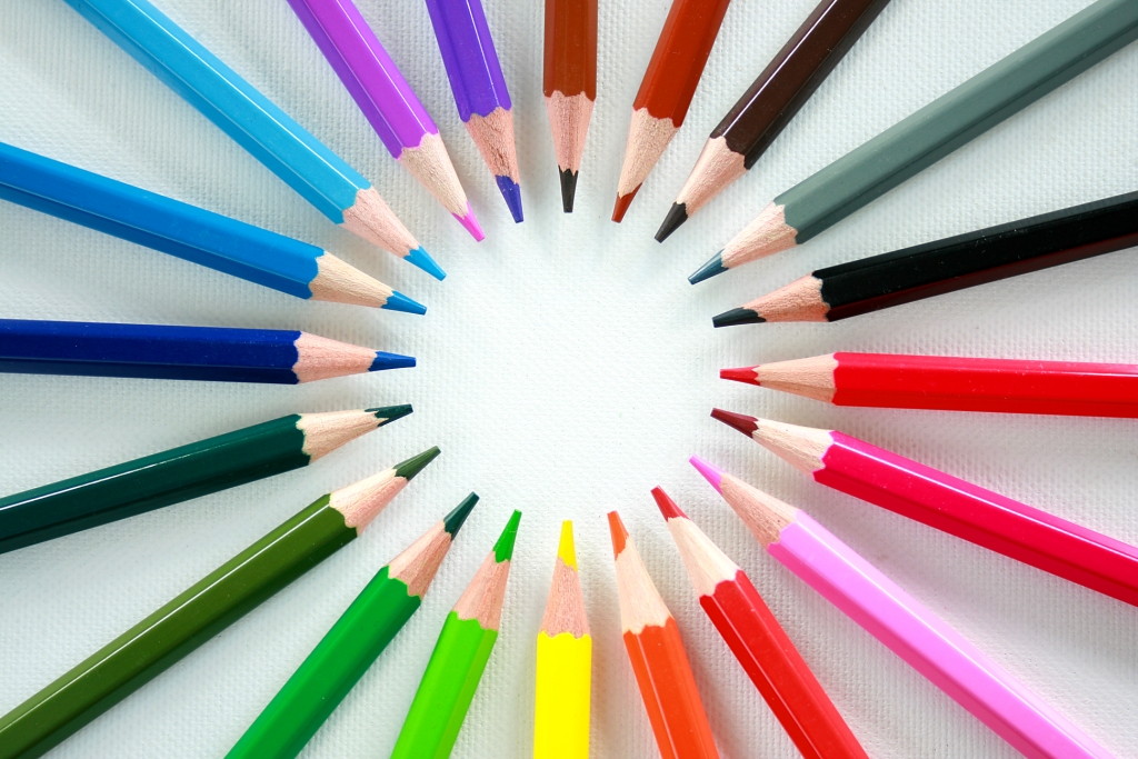 Crayon Circle Powerpoint PPT Backgrounds