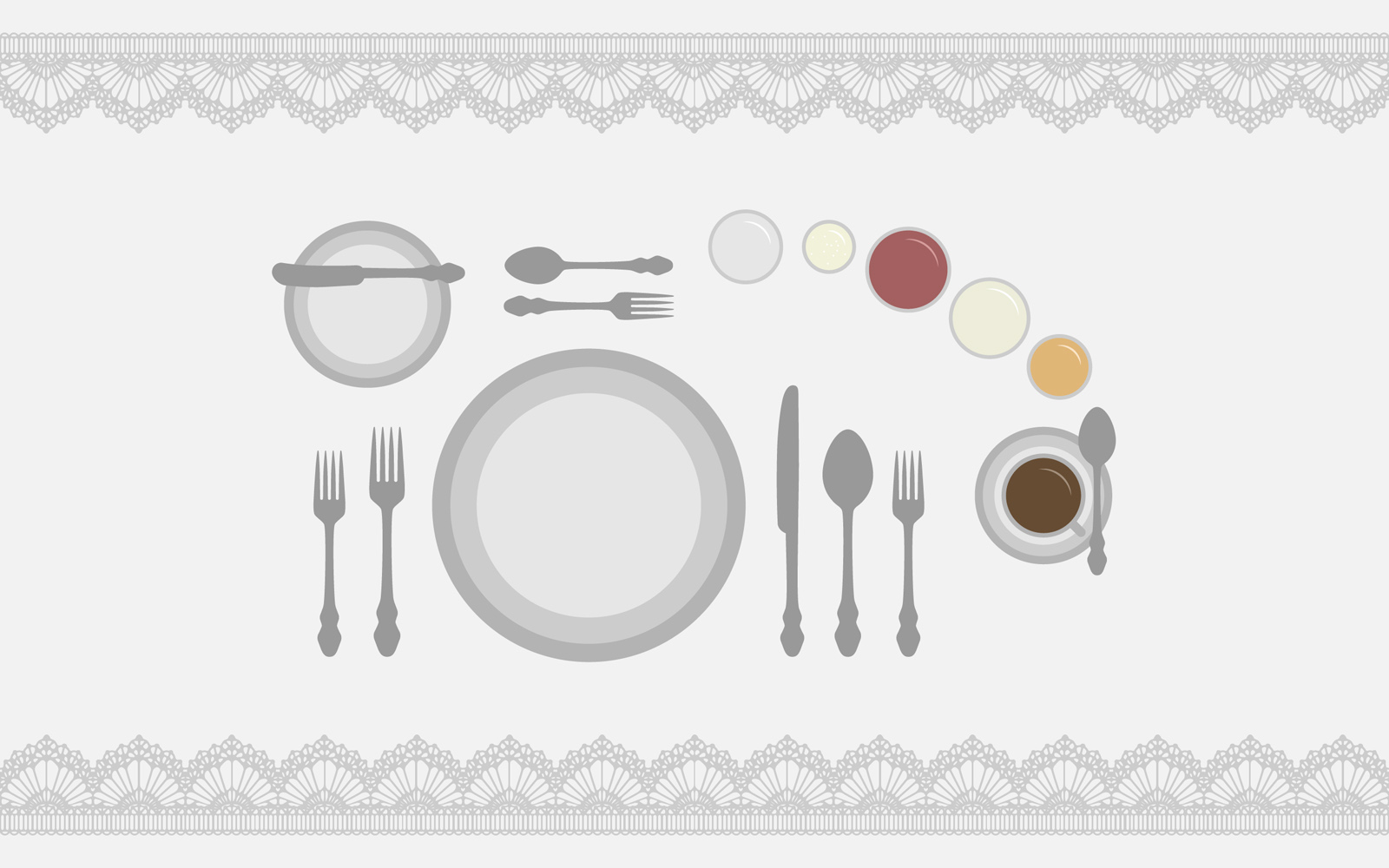 Dinner table PPT Backgrounds