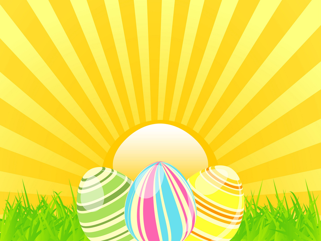 Easter sunshine PPT Backgrounds