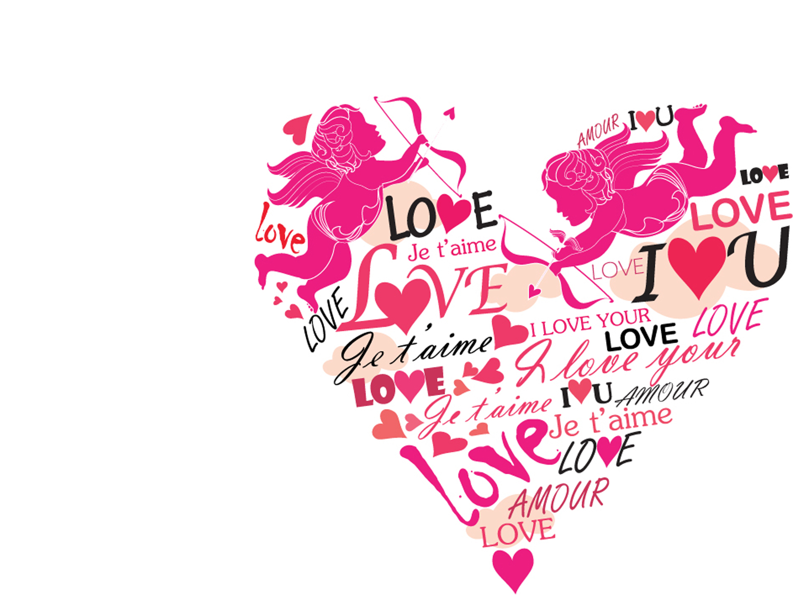 Eros heart for love PPT Backgrounds