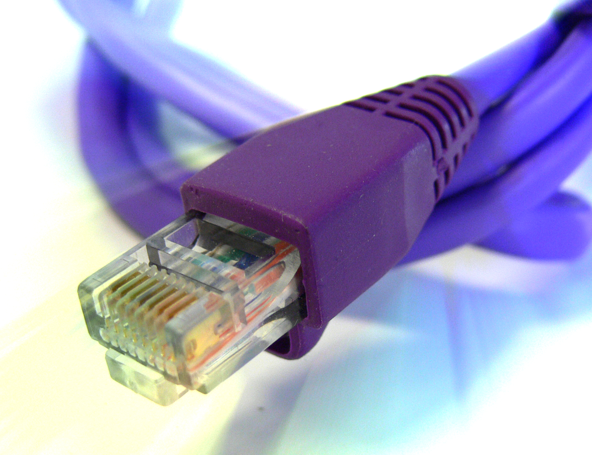 Ethernet cable tech PPT Backgrounds