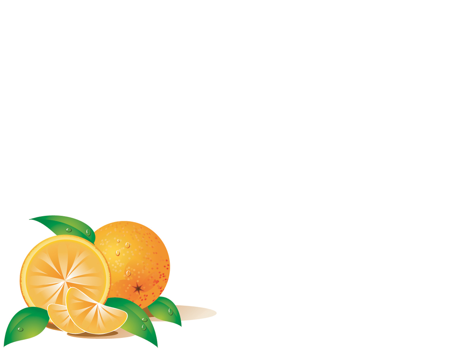 Fruits orange vector PPT Backgrounds