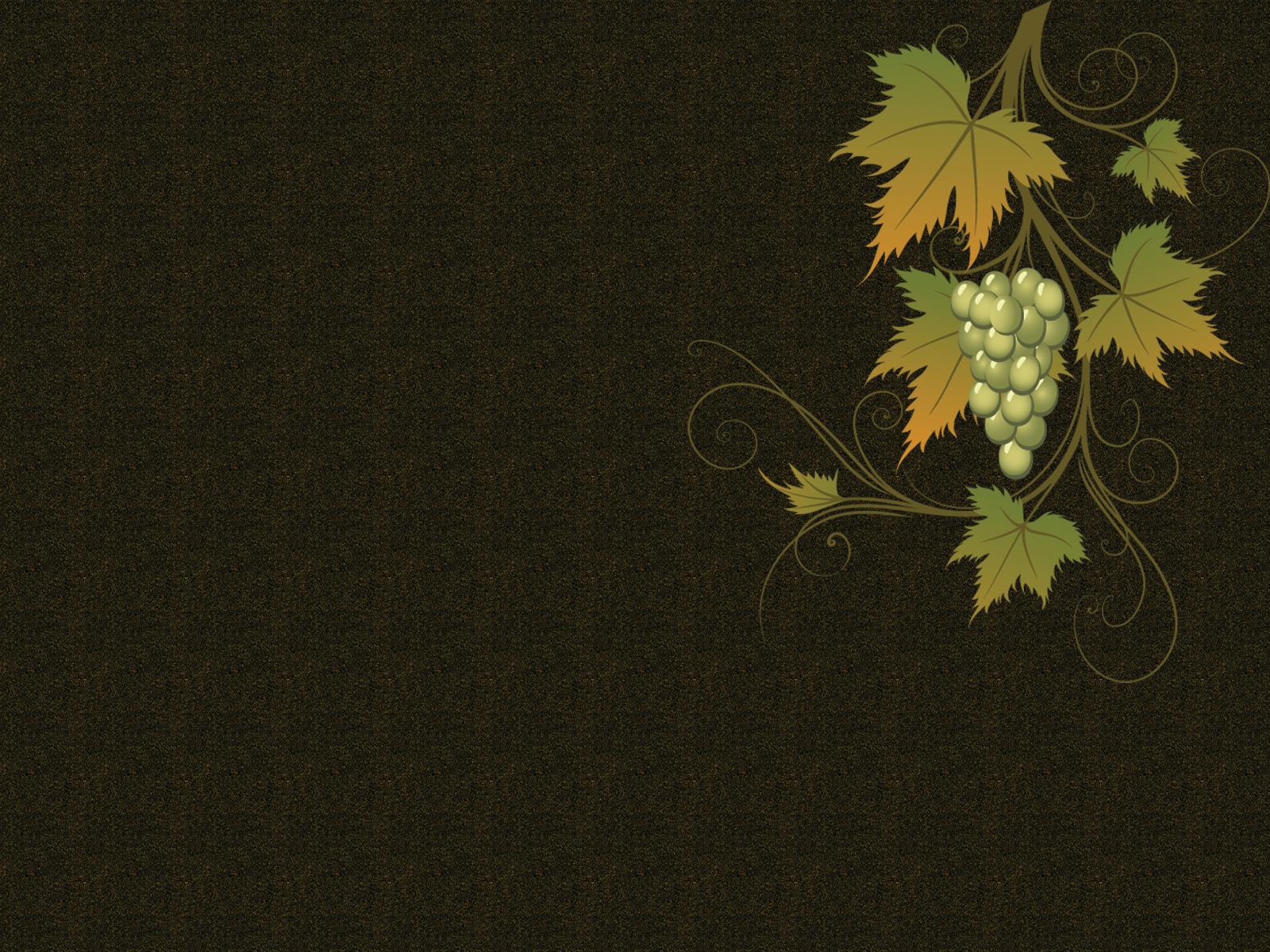 Grape vine vector PPT Backgrounds