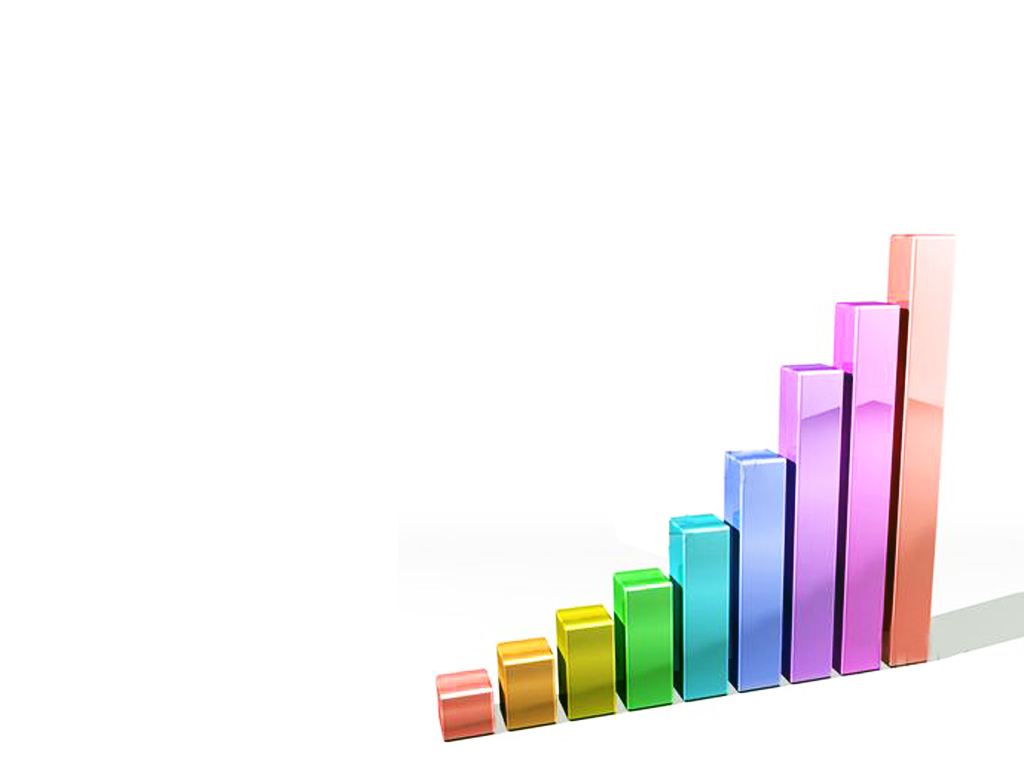 Graph Bars 3d PPT Backgrounds