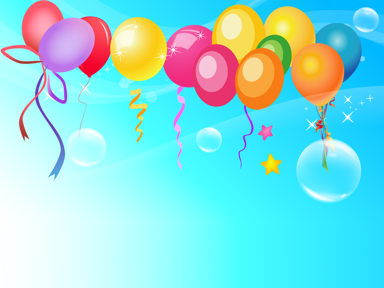 Graphic of Balloons PPT Backgrounds
