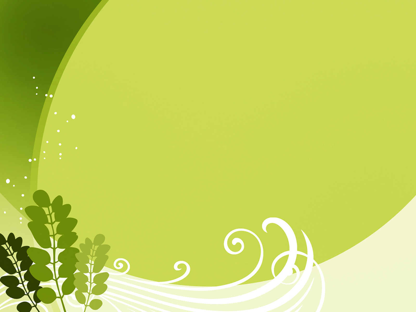 Green leaf template PPT Backgrounds