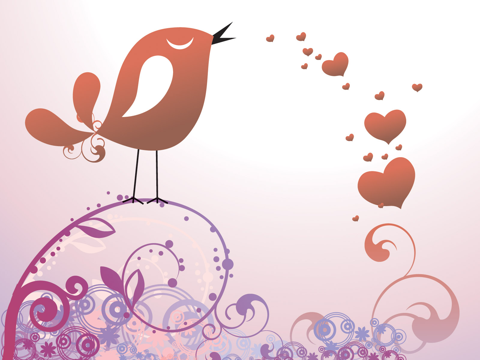 Postal to the day of  Valentine PPT Backgrounds
