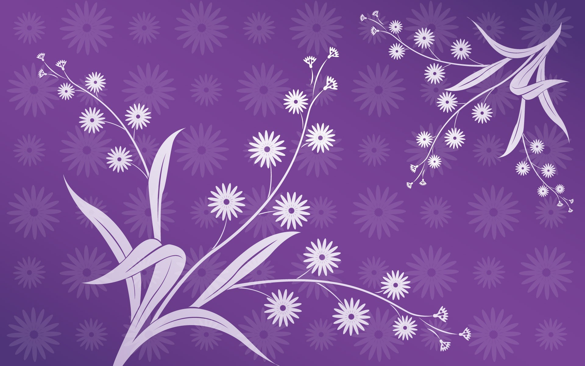 Purple floral design PPT Backgrounds
