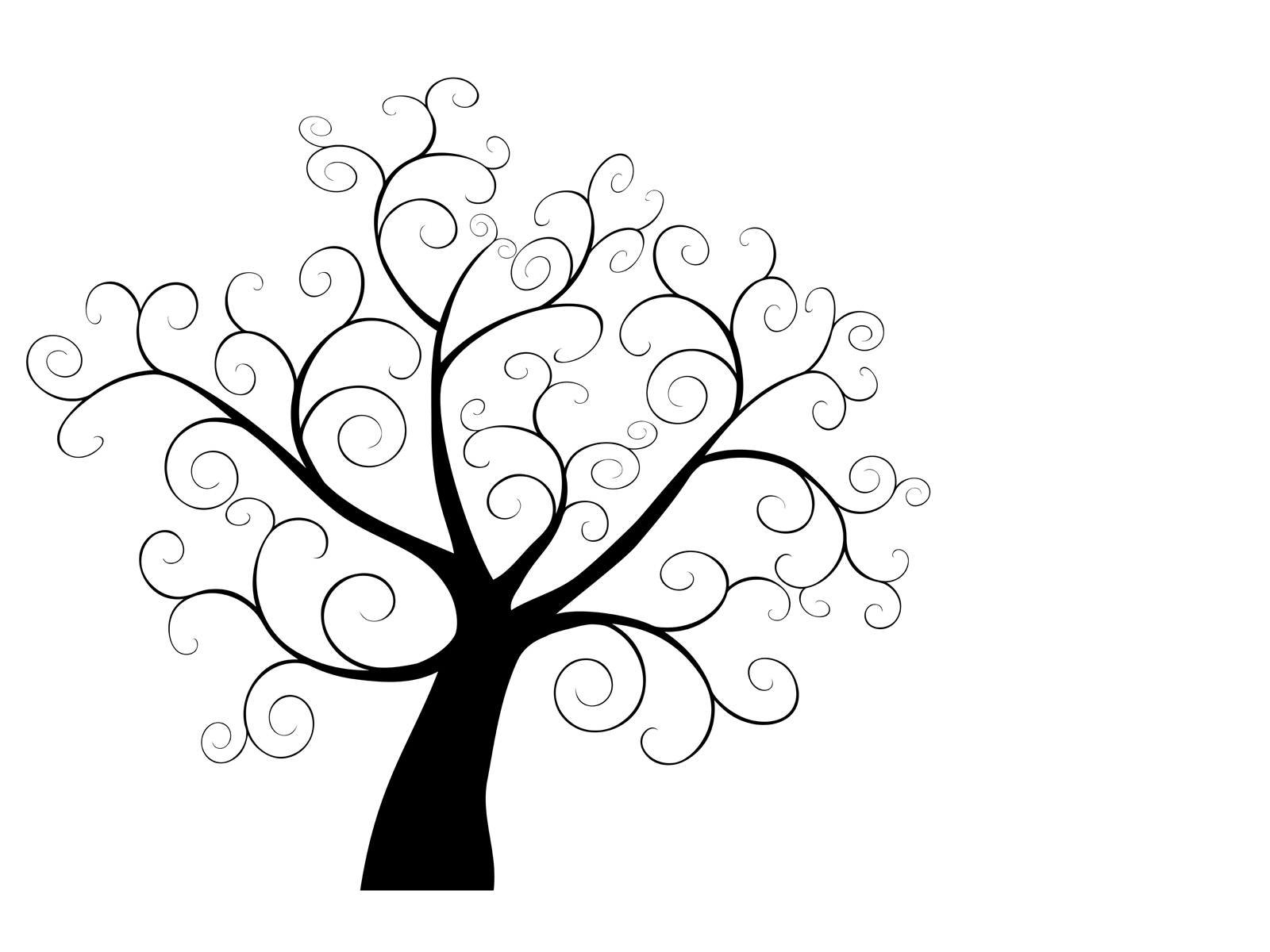Swirly tree PPT Backgrounds