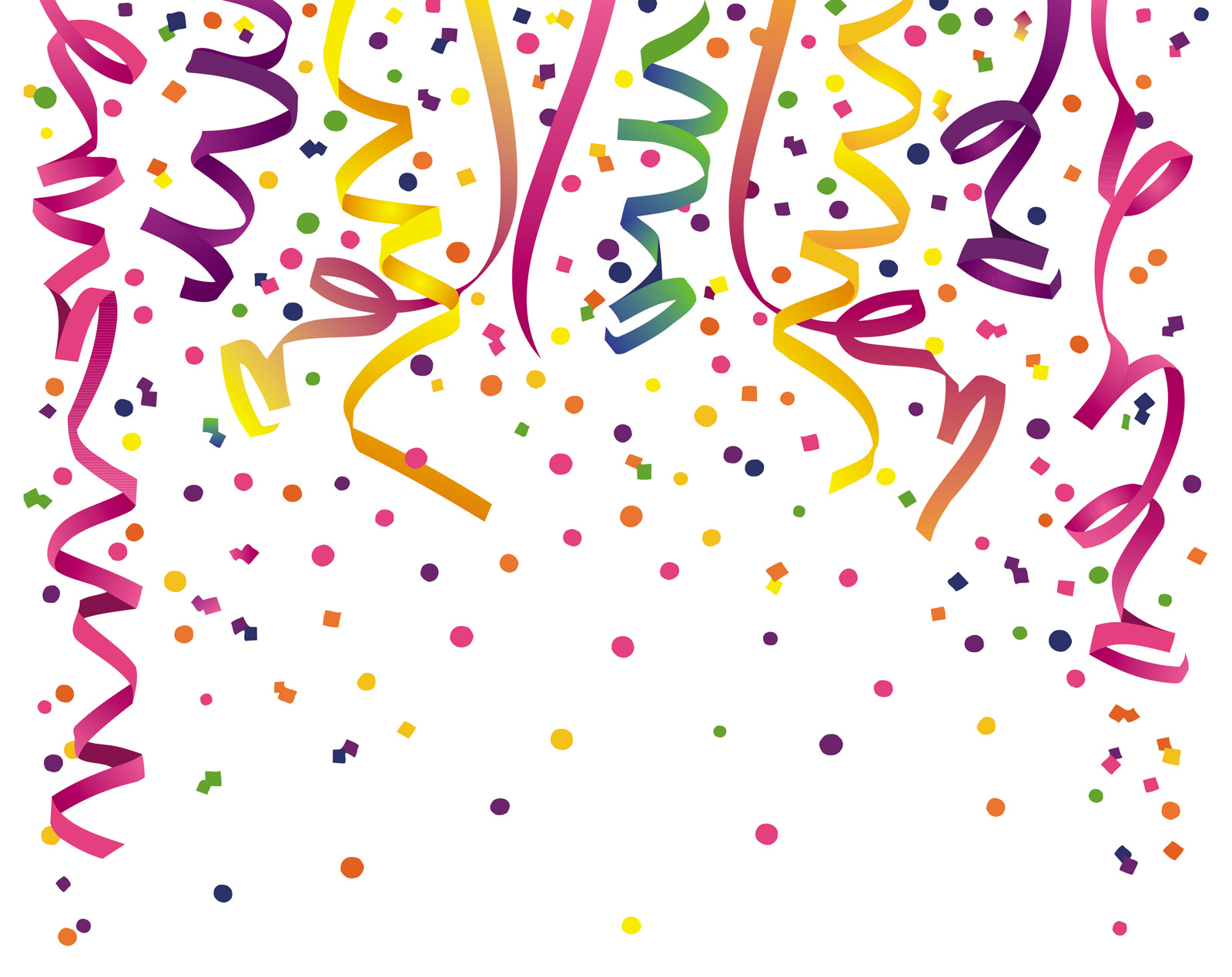 Variations on a confetti PPT Backgrounds
