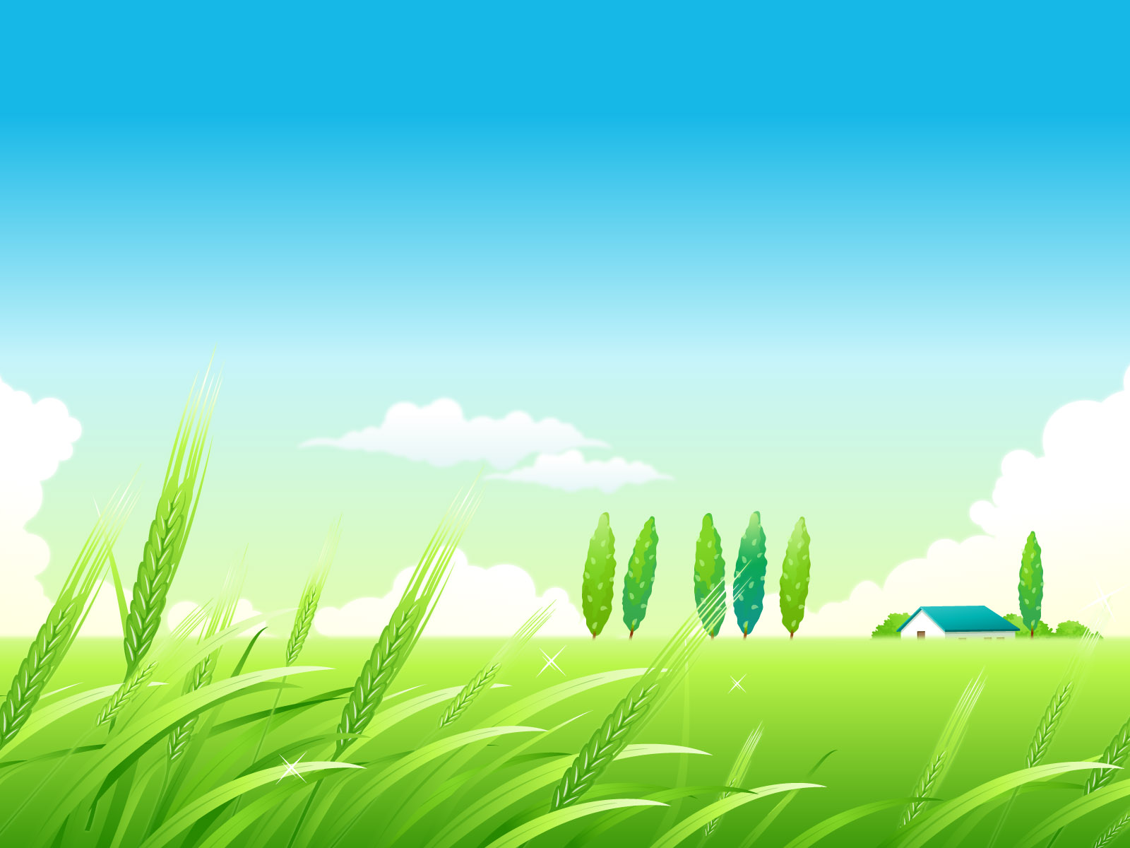 Village summer landscape PPT Backgrounds