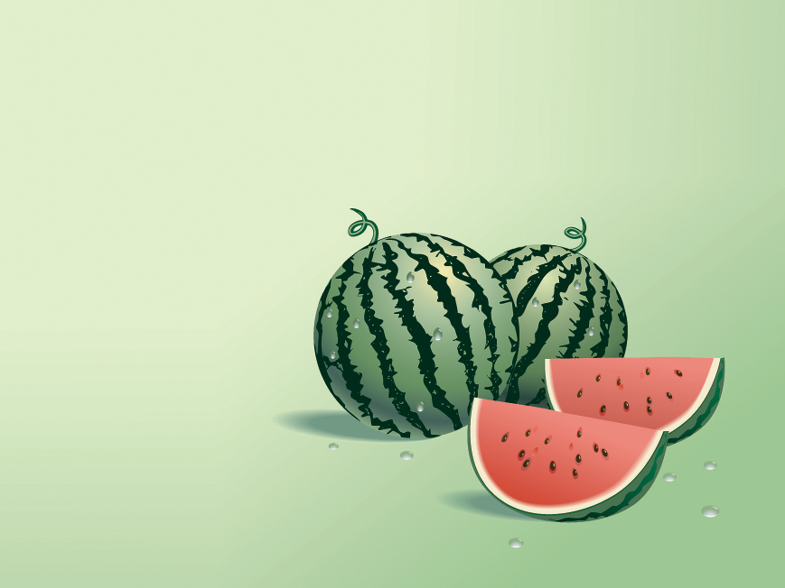 Watermelon Vector PPT Backgrounds