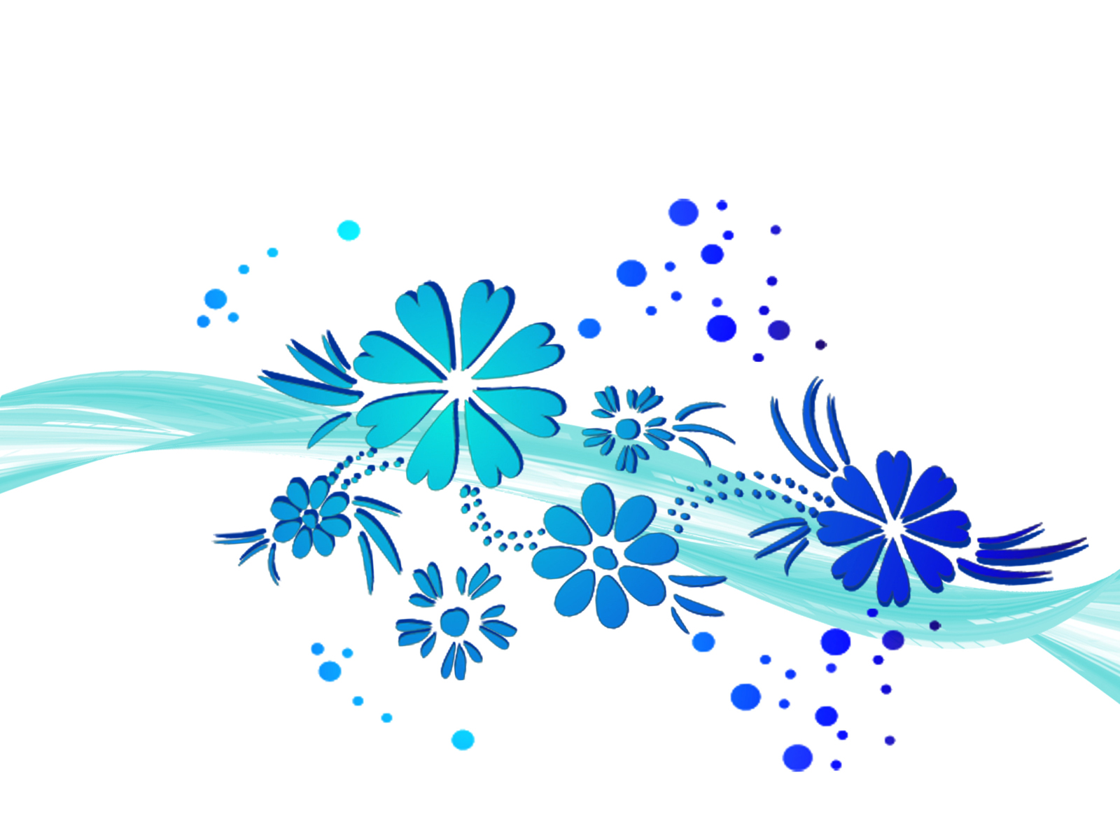 Wave of flowers PPT Backgrounds