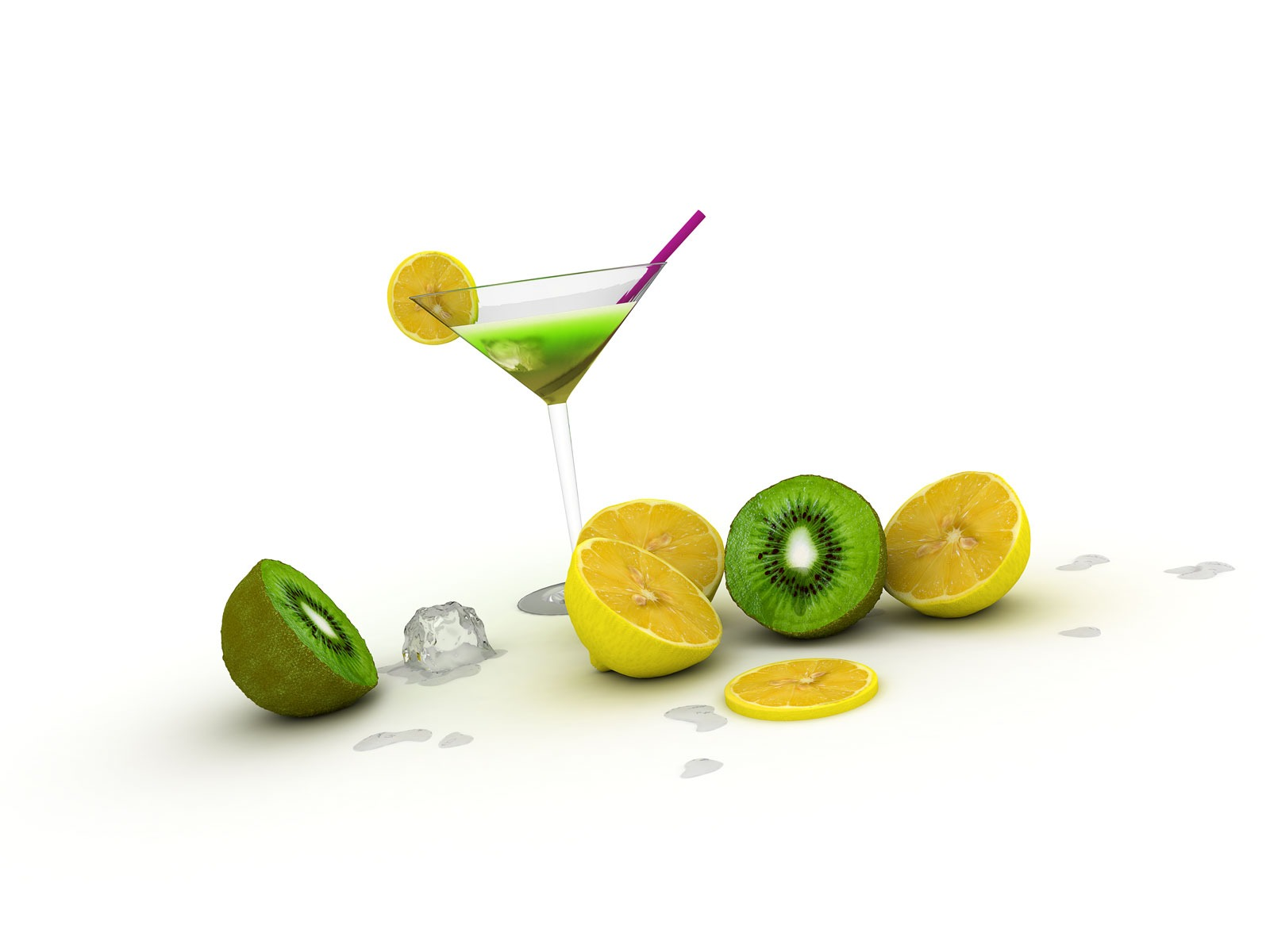 Abstract 3D Cocktails PPT Backgrounds