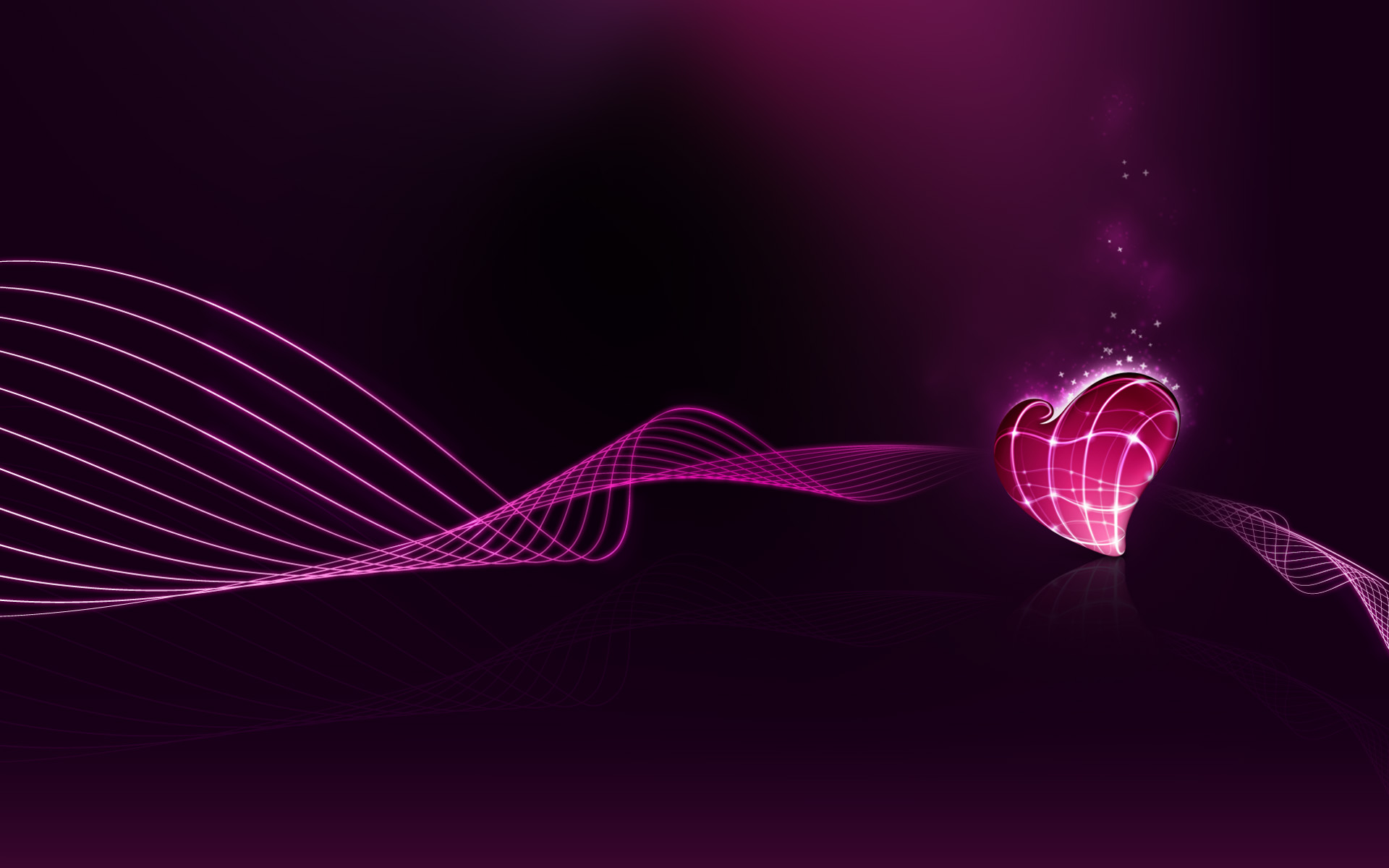 Free Abstract Heart Background for Powerpoint Slides