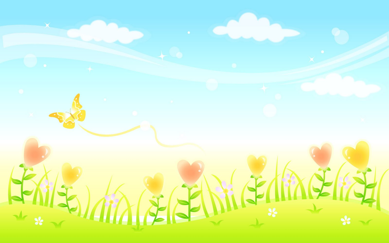 Free Animated Nature Flower Background for Powerpoint Slides