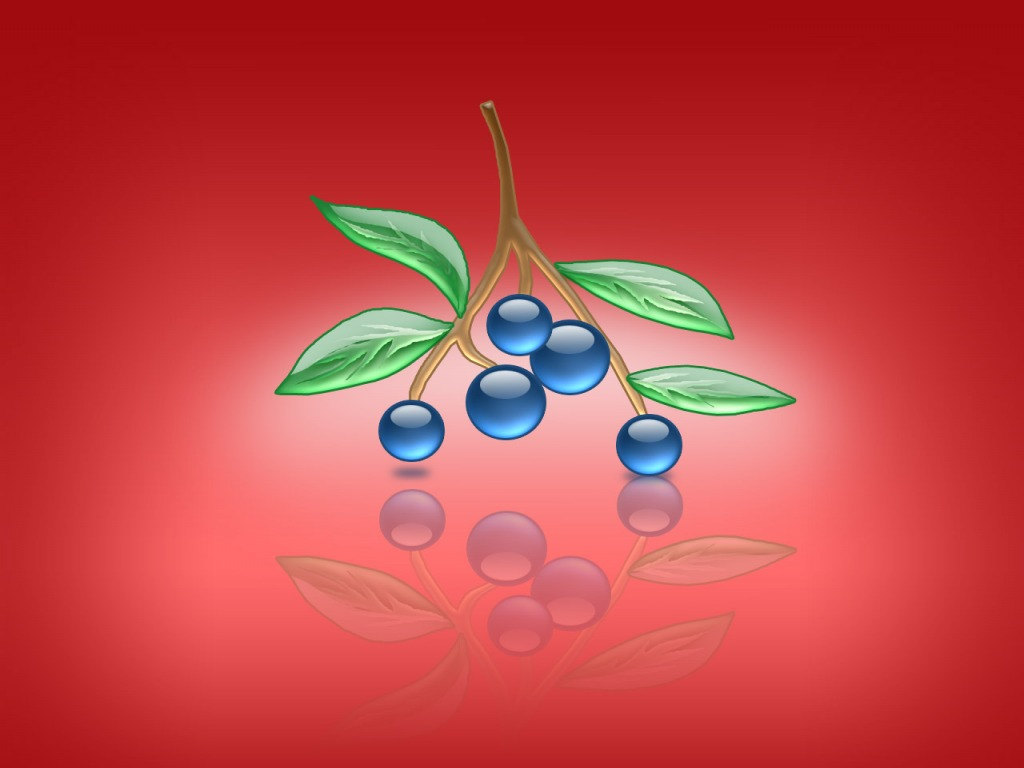 Aqua Blueberries PPT Backgrounds
