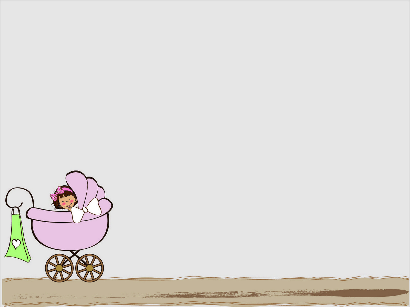 Baby Stroller PPT Backgrounds