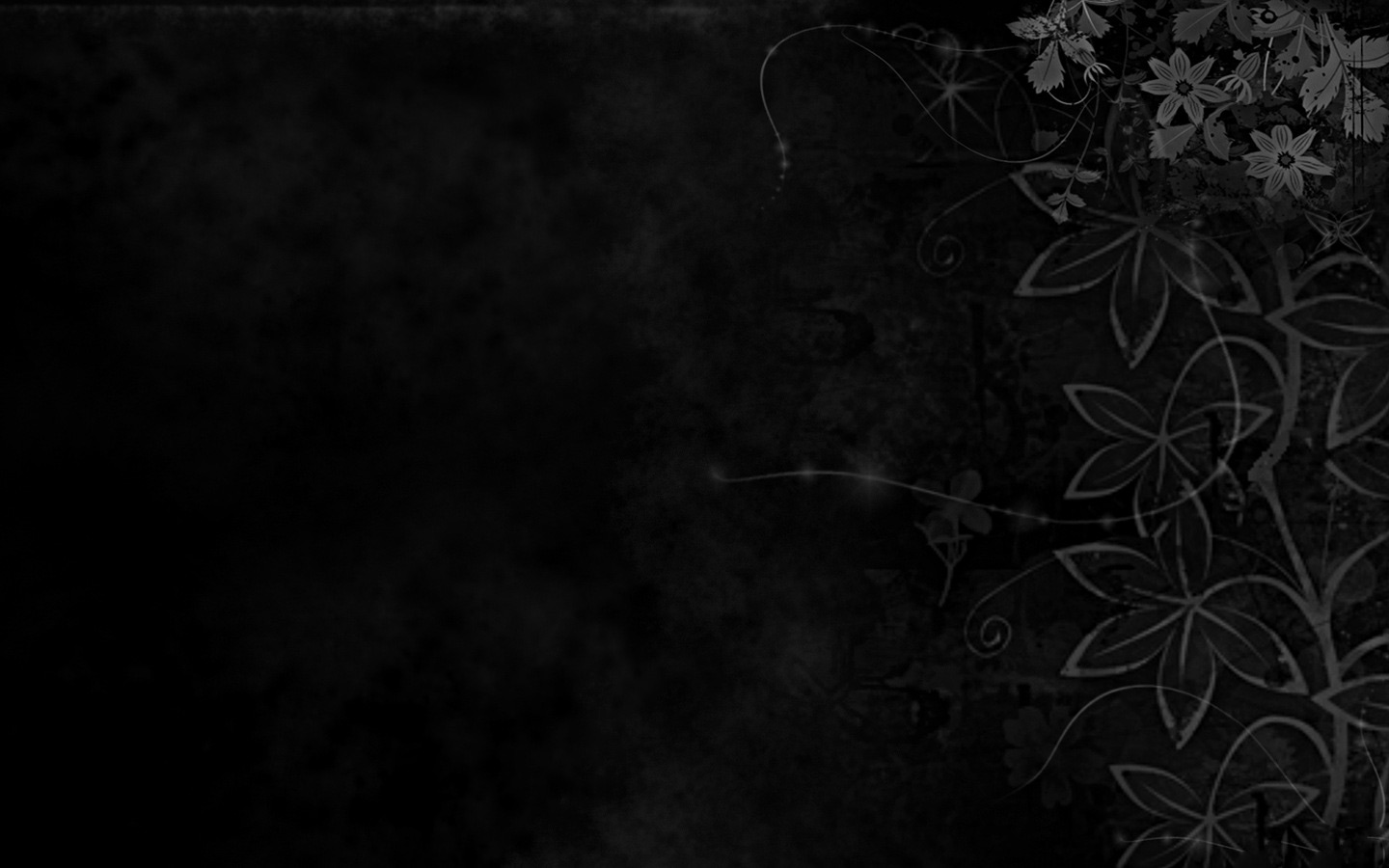 Background PPT Dark Floral