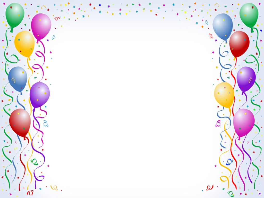 Free Balloon Border Background for Powerpoint Slides