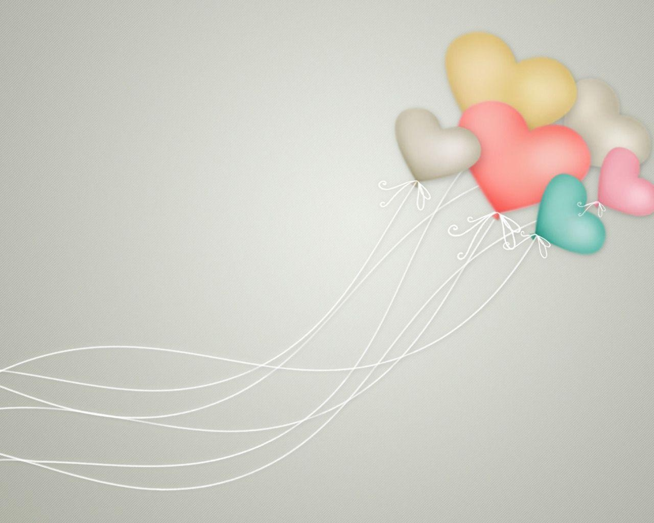 Balloons Heart of Love PPT Backgrounds