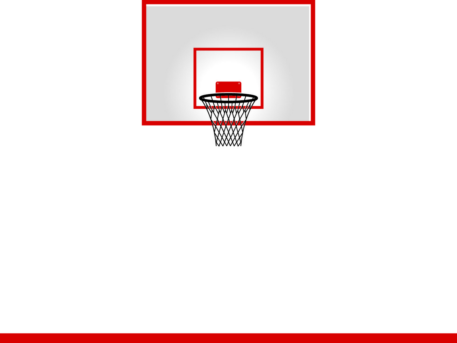Basketball Hoop PPT Backgrounds