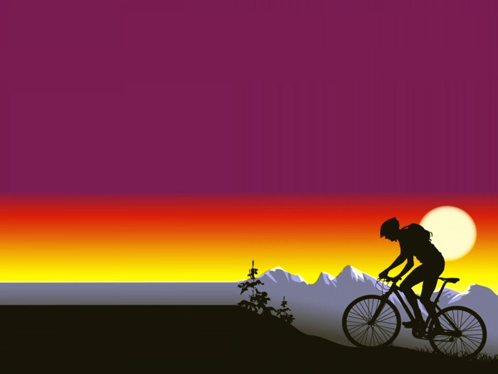 Bicycle Sport PPT Backgrounds