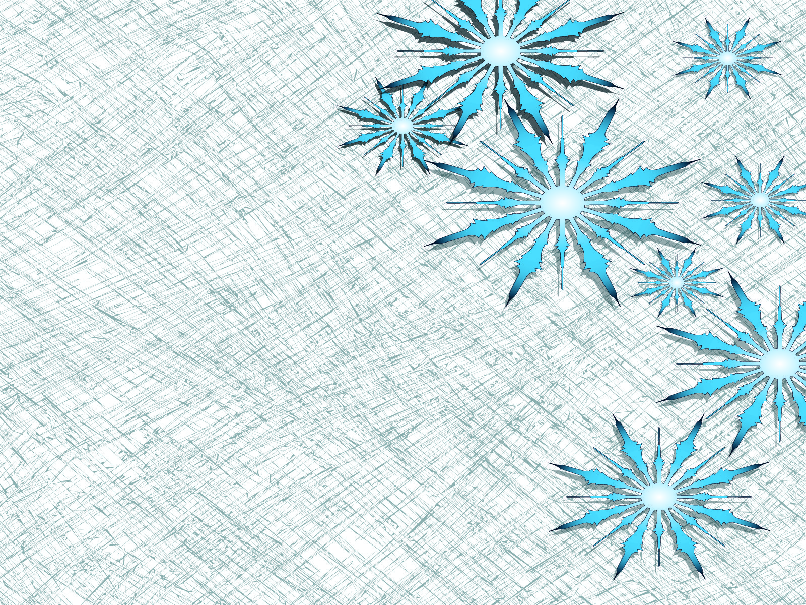 Big Snowflake PPT Backgrounds