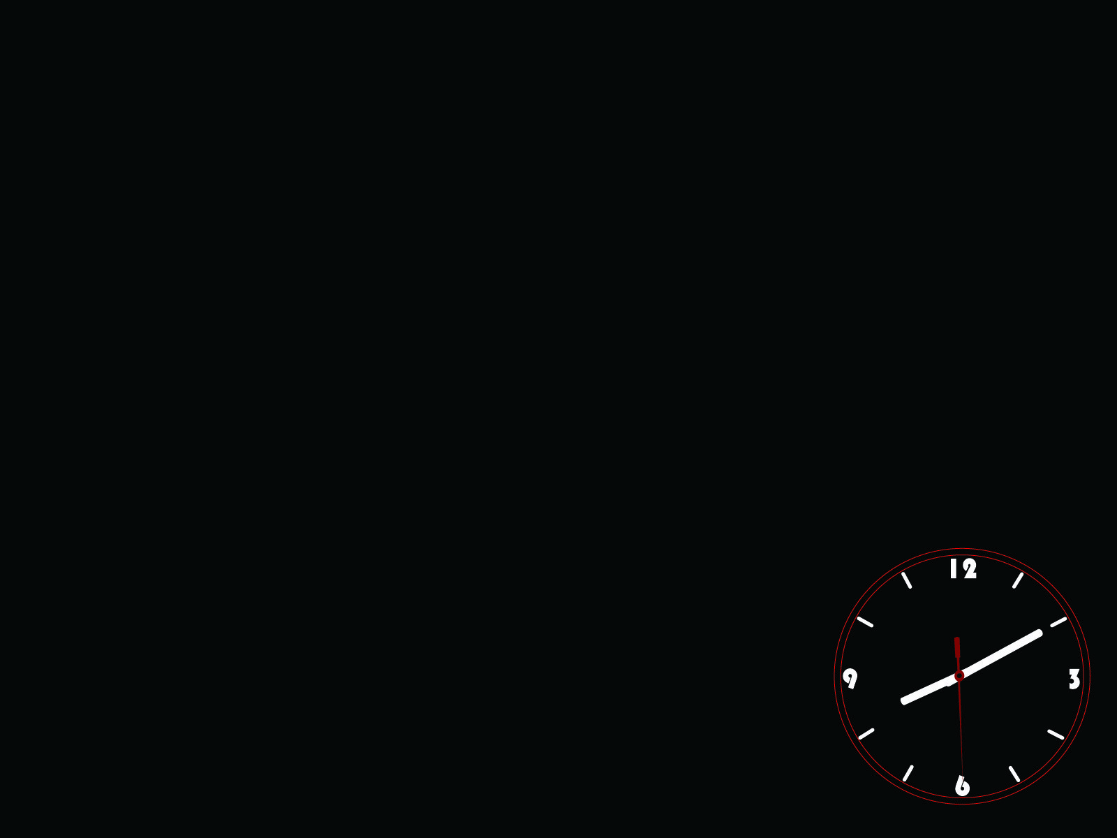 Black Clock PPT Backgrounds