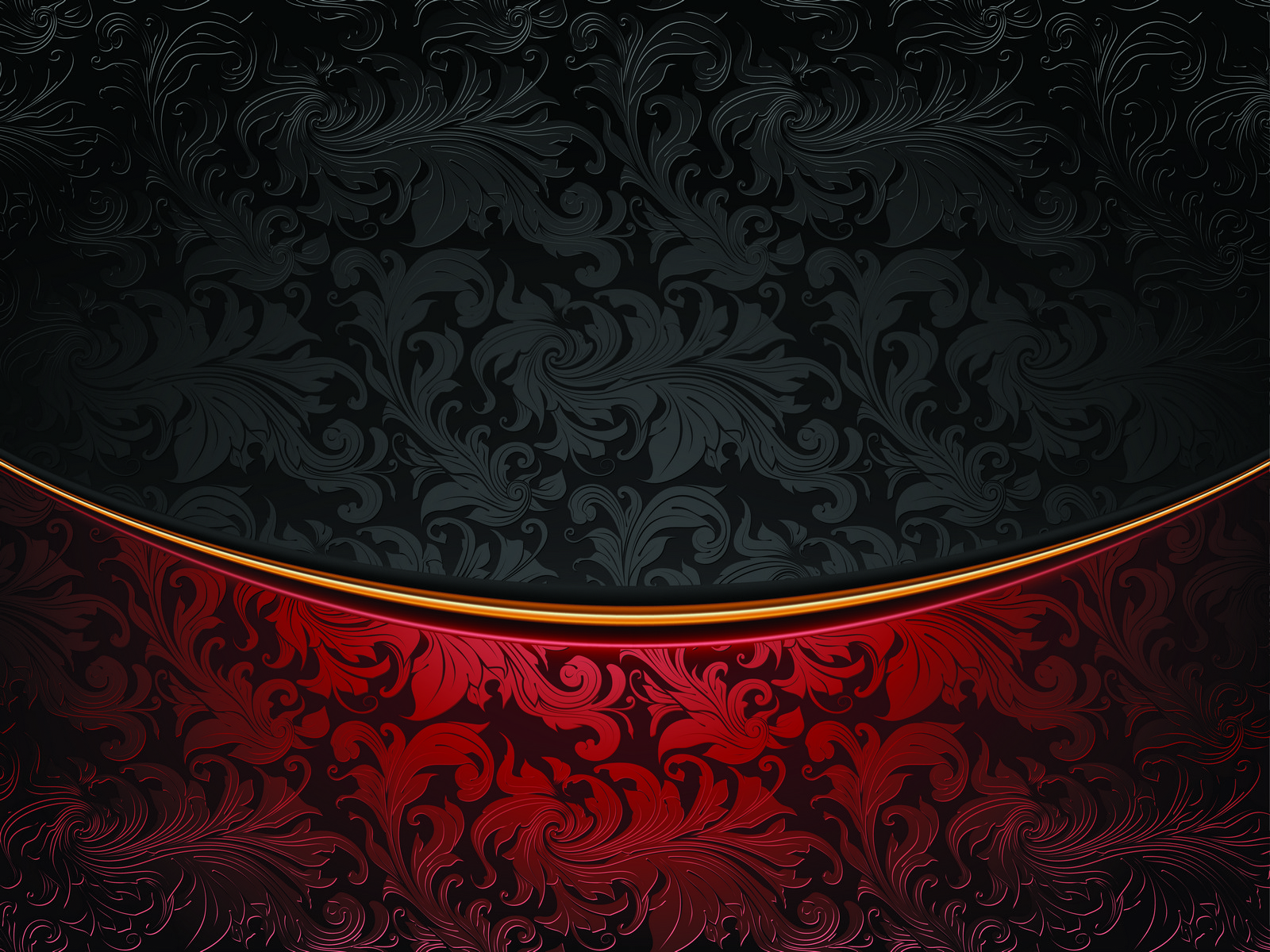 Black Red Floral Bg PPT Backgrounds