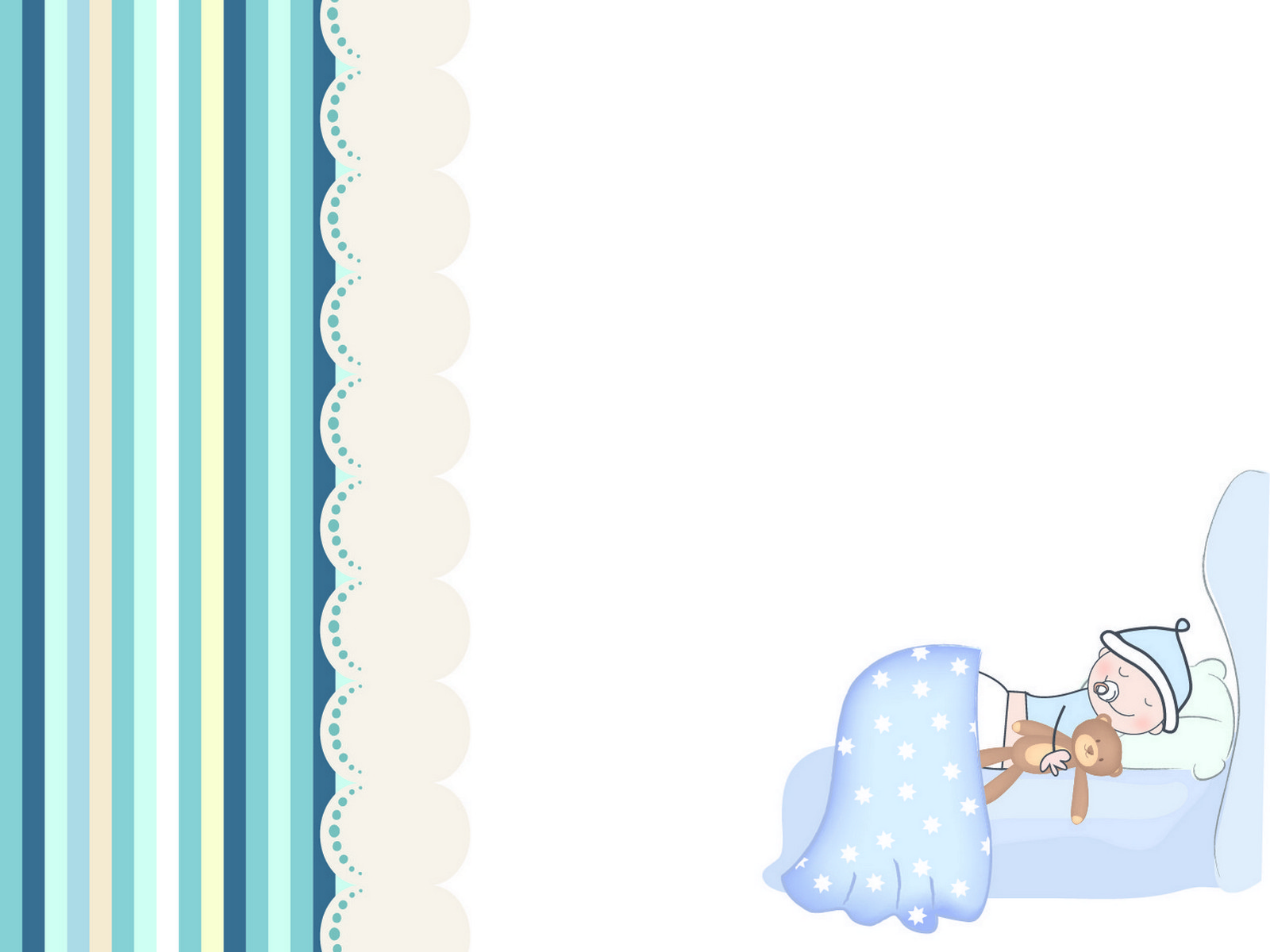 Blue Baby Room PPT Backgrounds