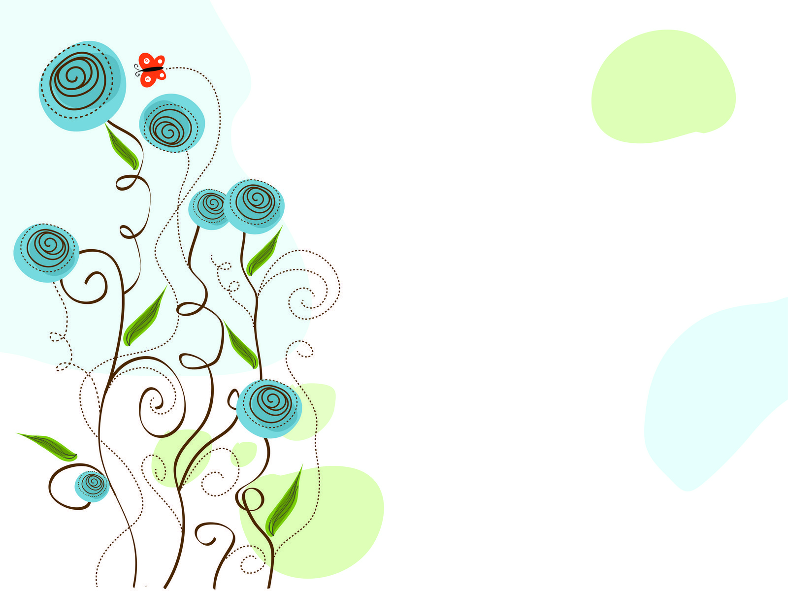 Blue Roses  Illustration PPT Backgrounds