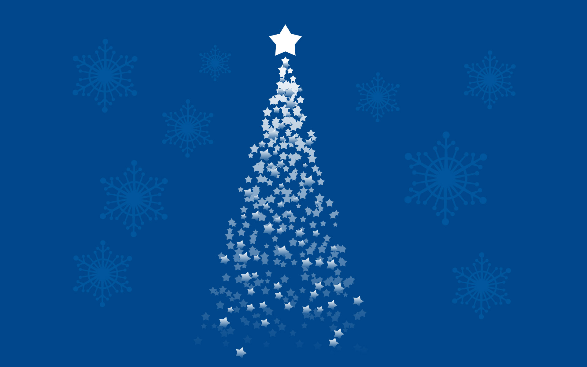 Blue Stars 2012 Christmas PPT Backgrounds
