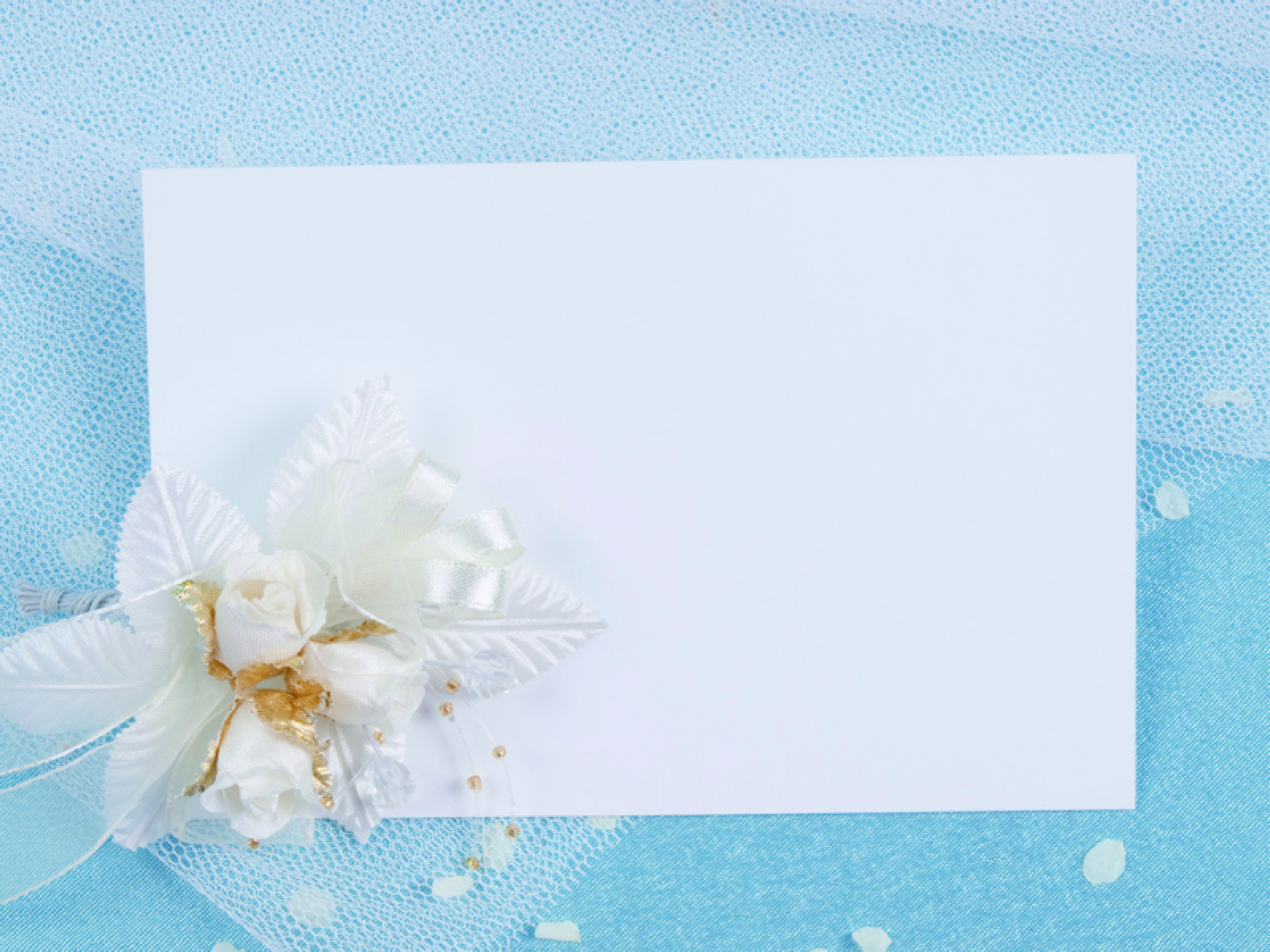 Blue Wedding Celebrate Card PPT Backgrounds