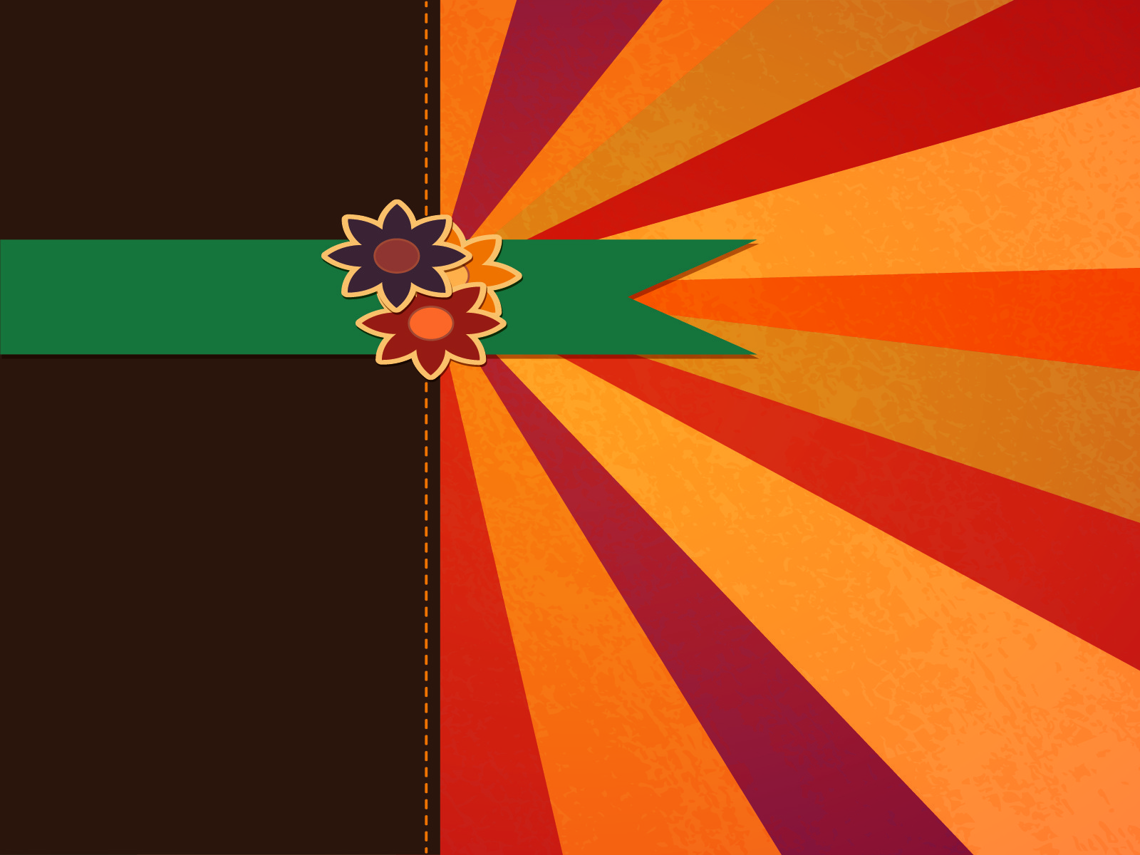 Brown And Orange Flash PPT Backgrounds