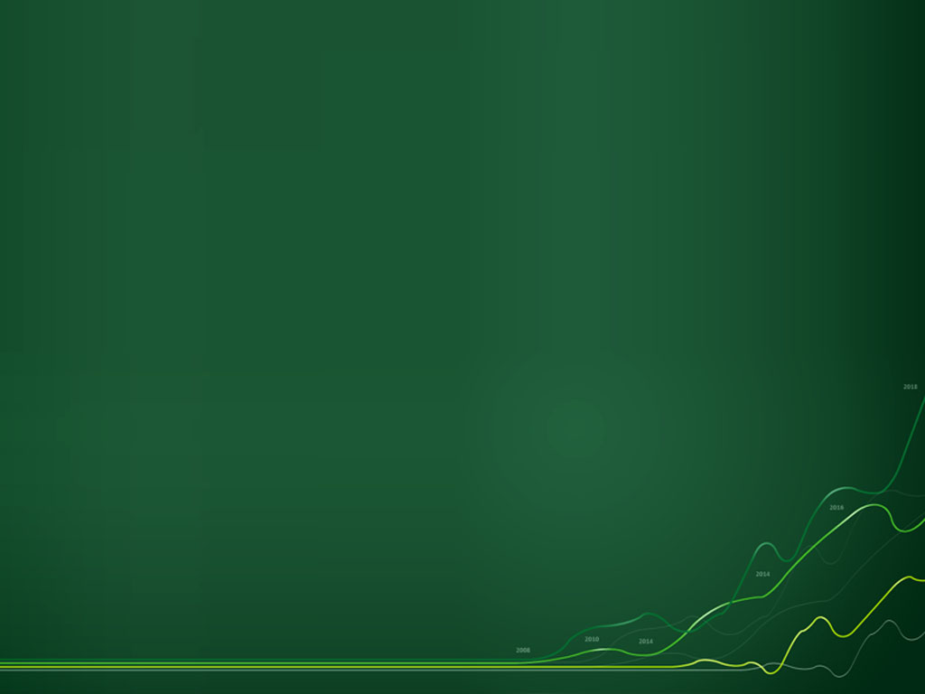 Chart graphic wave green PPT Backgrounds