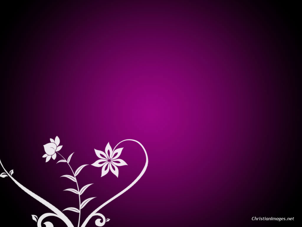 Christian Flower PPT Backgrounds