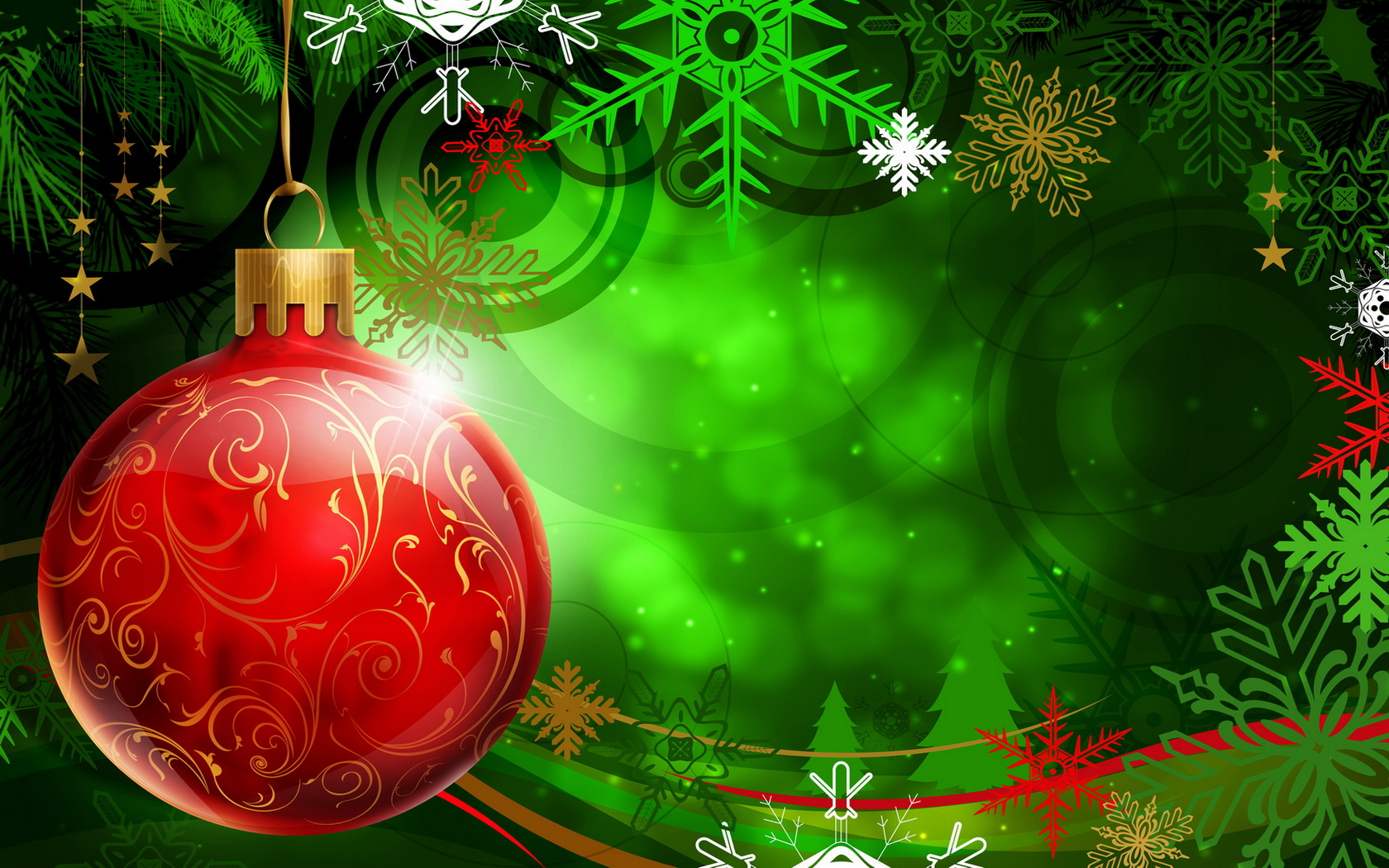 Christmas Red Ball PPT Backgrounds