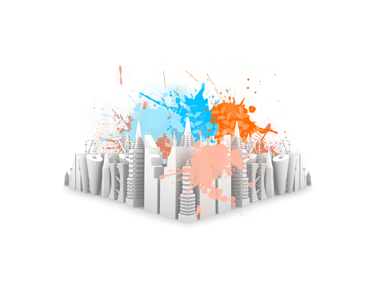 City Spaces PPT Backgrounds