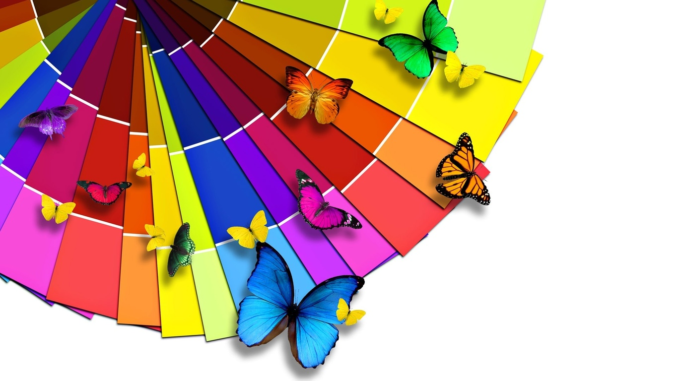 color, paper, butterfly PPT Backgrounds