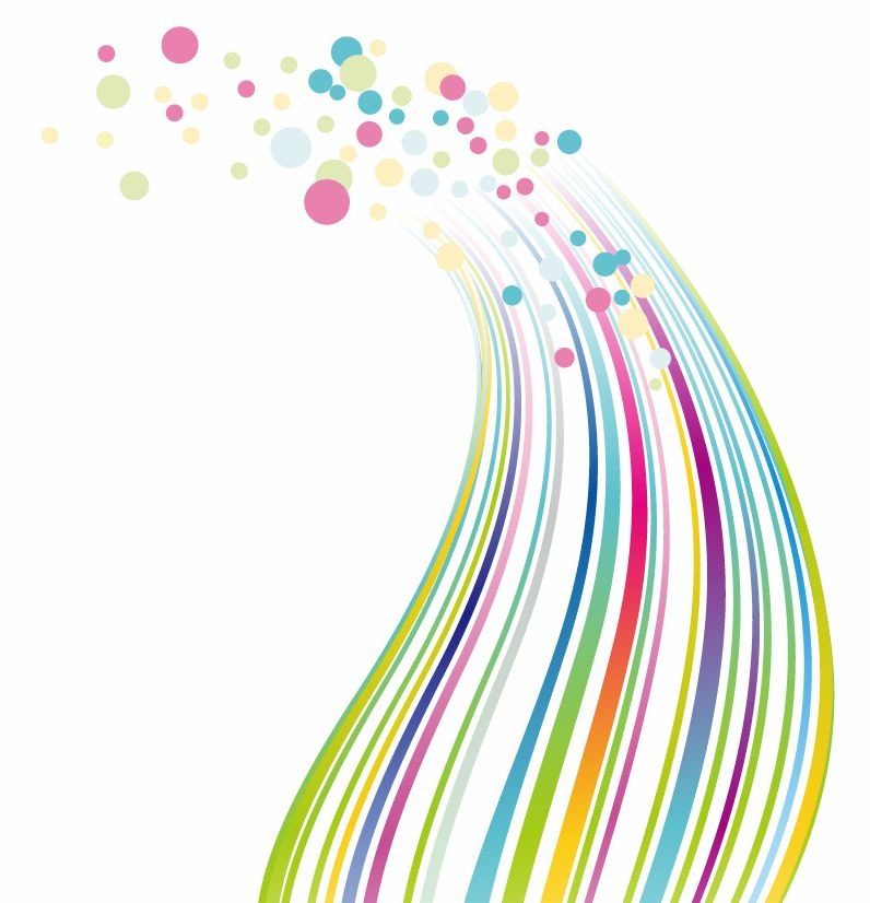 Colorful Dots Lines  PPT Backgrounds