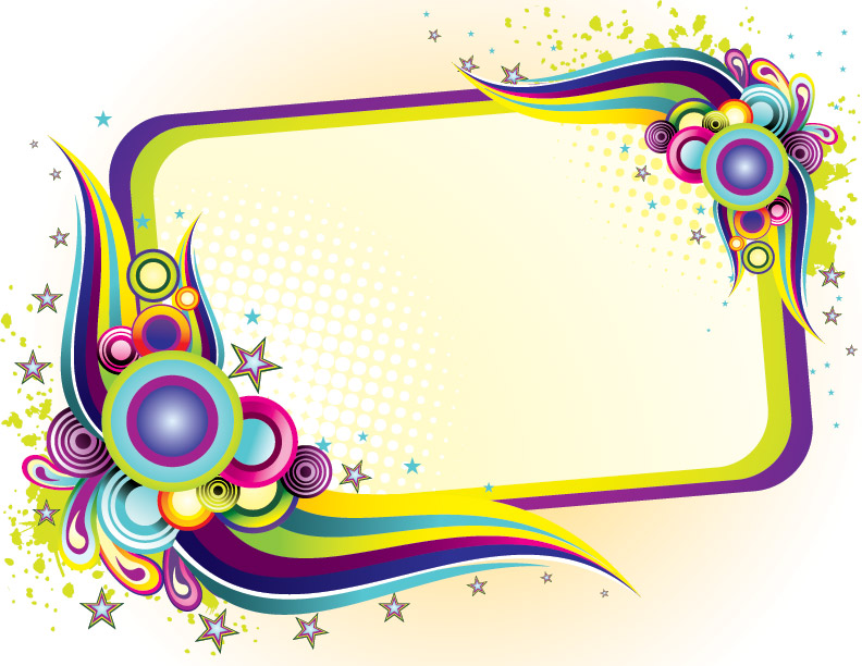 Colorful Frame Design PPT Backgrounds