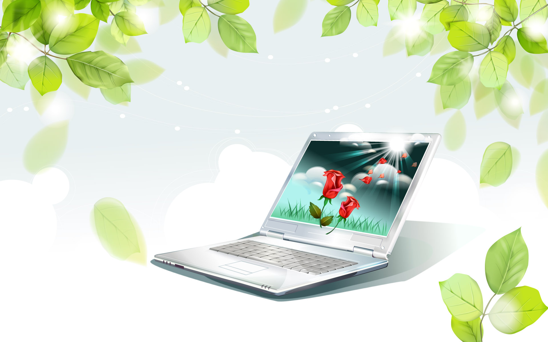 Computer notebook PPT Backgrounds