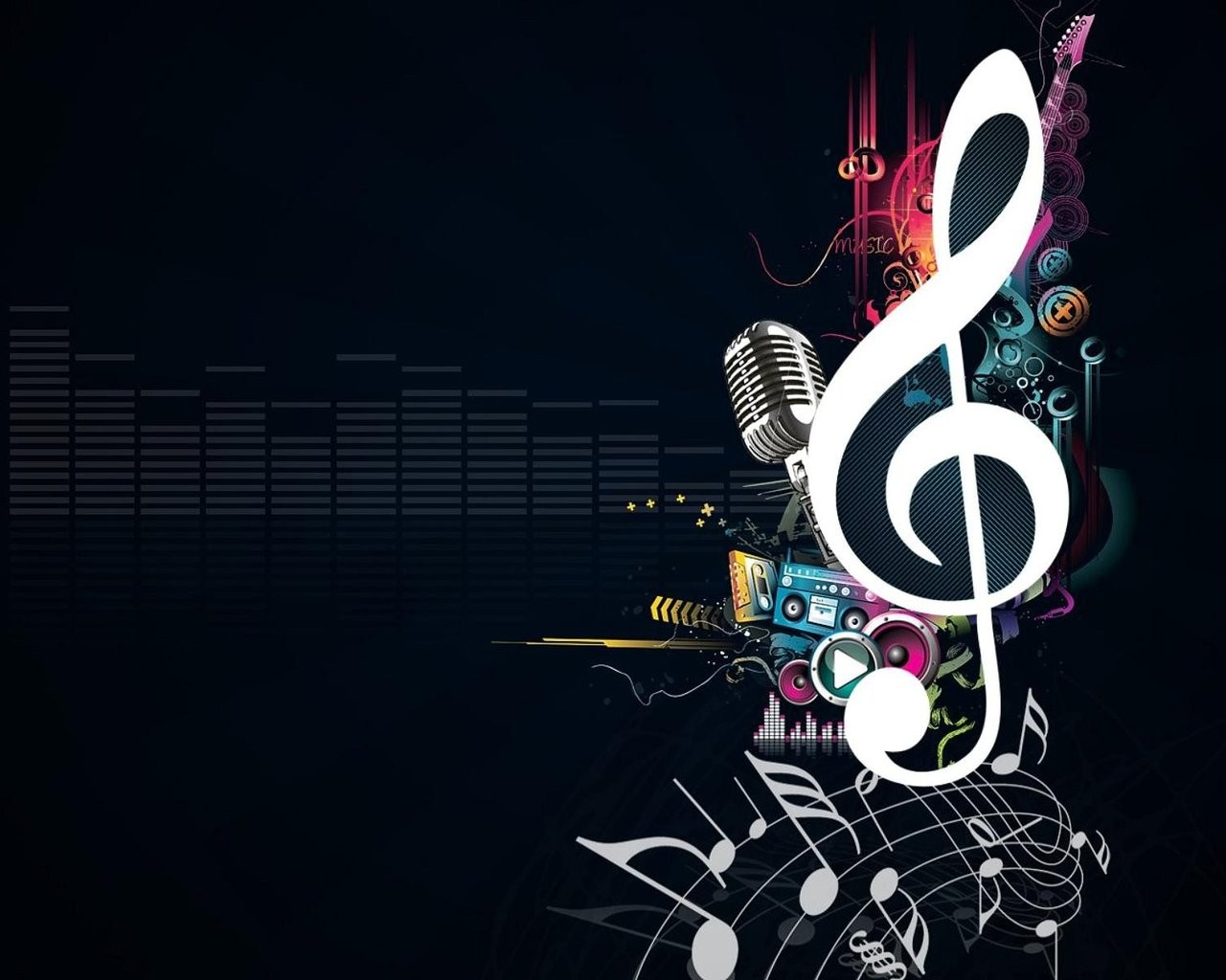 creative music platforms PPT Backgrounds